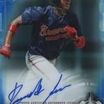 2017 Bowman Baseball Chrome Autographs Blue Refractor Acuna