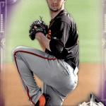 2017 Bowman Baseball Prospects Purple Beede