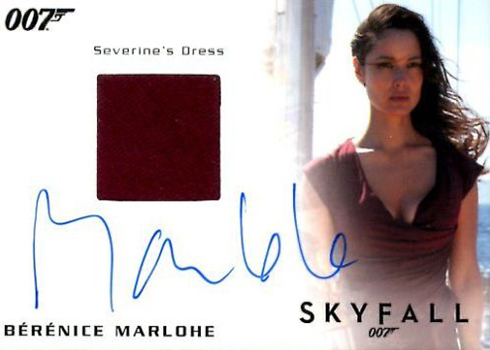 2017 James Bond Archives Autographed Relic Berenice Marlohe