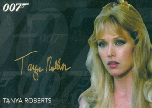 2017 James Bond Archives Gold Signature Tanya Roberts