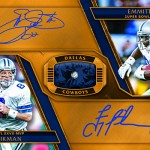 2017 Panini Gold Standard Football Super Bowl Diamond Signatures Dual