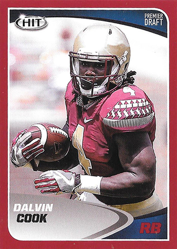 2017 SAGE Hit Premier Draft High Football Red Dalvin Cook