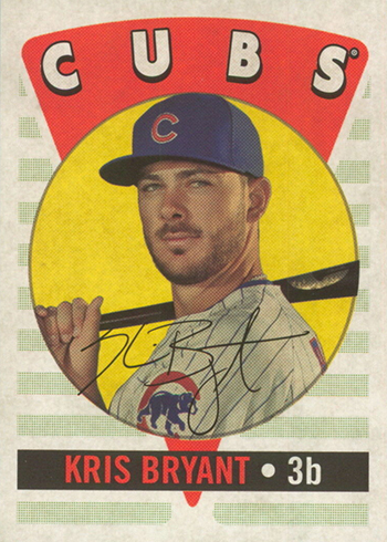 2017 Topps Archives Baseball 2016 Retro Original Kris Bryant