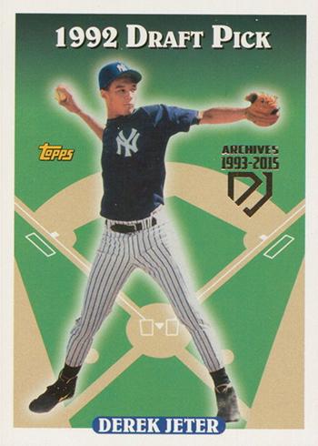 2017 Topps Archives Baseball Derek Jeter Retrospective