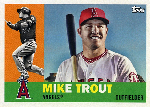 2017 Topps Archives Variations 1 Mike Trout