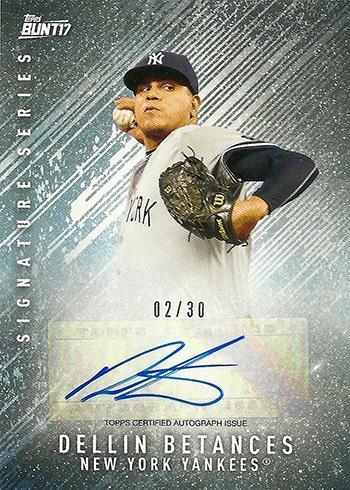 2017 Topps Bunt Baseball Autographs Dellin Betances
