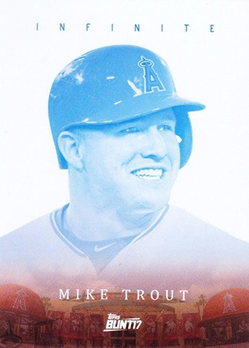 2017 Topps Bunt Baseball Infinite Mike Trout