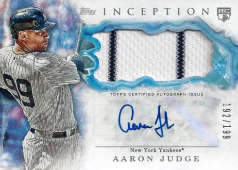 2017 Topps Inception Baseball Autograph Relic Aaron Judge