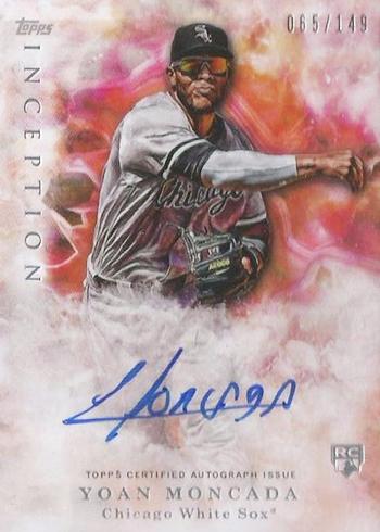 2017 Topps Inception Baseball Base Yoan Moncada Autograph