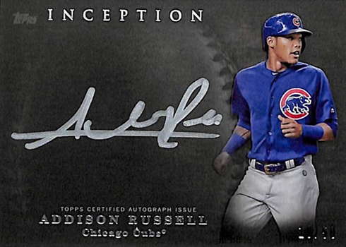 2017 Topps Inception Baseball Silver Signings Addison Russell