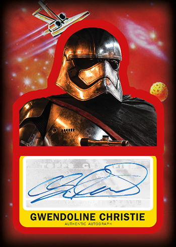 2017 Topps Journey to Star Wars the Last Jedi Autographs Gwendoline Christie