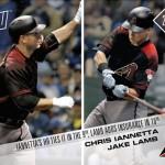 2017 Topps Now Baseball 189 Chris Iannetta Jake Lamb