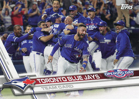 2017 Topps Opening Day Blue Jays Team Card Front TOR