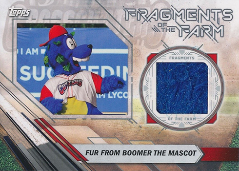 2017 Topps Pro Debut Fragments of the Farm Fur from Boomer the Mascot