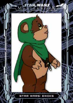 2017 Topps Star Wars Masterwork Ewok Animation Cel