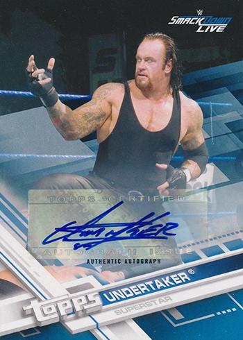 2017 Topps WWE Autographs Blue Undertaker