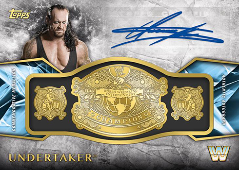 2017 Topps WWE Legends Commemorative Retired Championship Autograph Undertaker