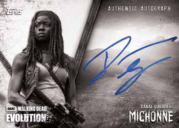 2017 Topps Walking Dead Evolution Autograph Black and White