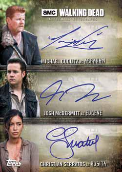 2017 Topps Walking Dead Evolution Triple Autograph