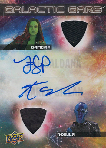 2017 Upper Deck Guardians of the Glaxy Vol 2 Galactic Garb Dual Auto