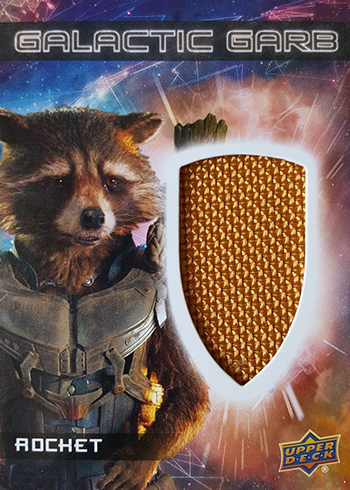 2017 Upper Deck Guardians of the Glaxy Vol 2 Galactic Garb Rocket Raccoon