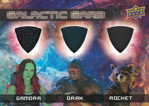 2017 Upper Deck Guardians of the Glaxy Vol 2 Galactic Garb Triple