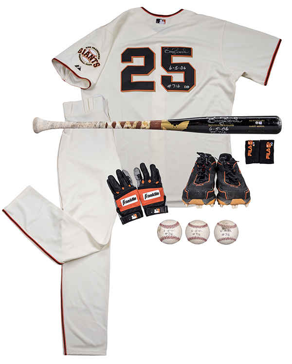 Barry Bonds Uniform Home Run 716 Goldin Auctions May-2017
