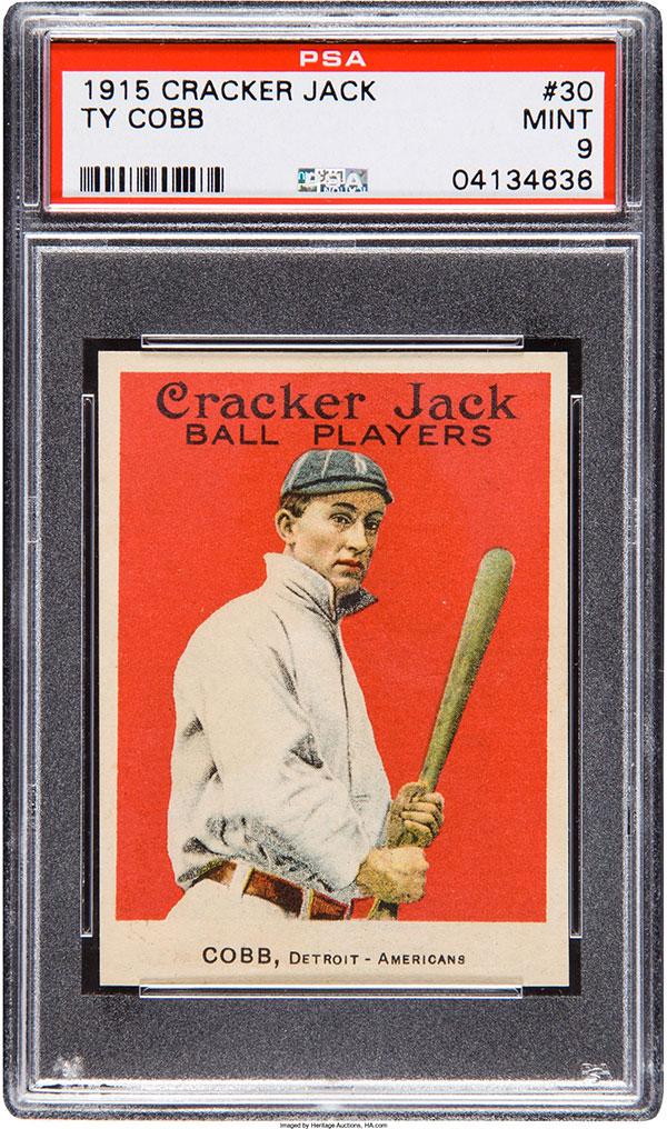 1915-Cracker-Jack-Ty-Cobb-PSA-9-Heritage-June-2017