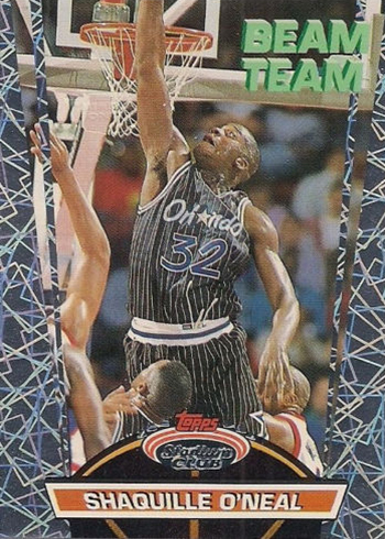 1992-93 Stadium Club Beam Team 21 Shaquille ONeal