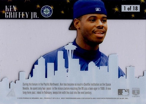 1996 Pinnacle Skylines Ken Griffey Jr Reverse