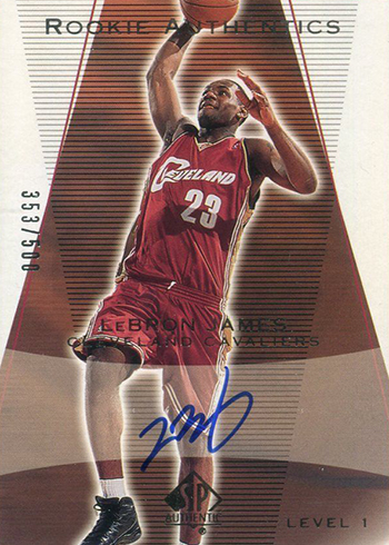 2003-04 SP Authentic LeBron James RC