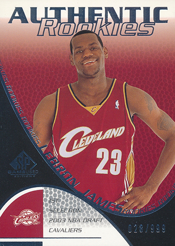 2003-04 SP Game Used LeBron James RC