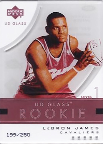 2003-04 UD Glass LeBron James RC