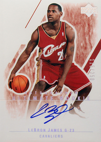 2003-04 Ultimate Collection LeBron James Autograph RC