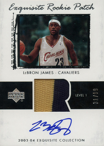 2003-04 Upper Deck Exquisite LeBron James