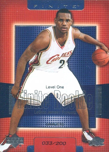 2003-04 Upper Deck Finite LeBron James RC