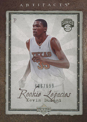 2007-08 Artifacts Kevin Durant RC