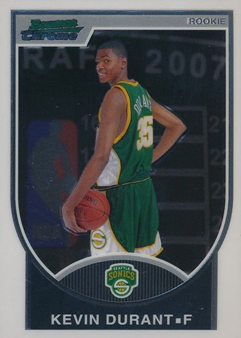 2007-08 Bowman Chrome Kevin Durant RC
