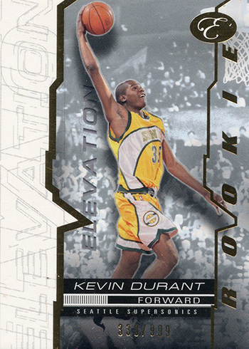 2007-08 Bowman Elevation Kevin Durant RC