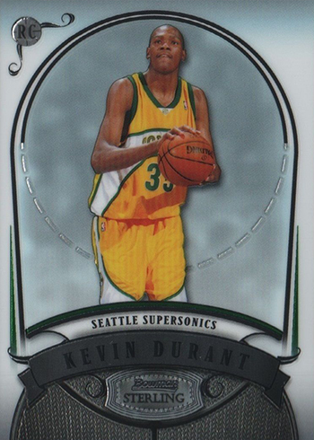 2007-08 Bowman Sterling Kevin Durant Rookie Card