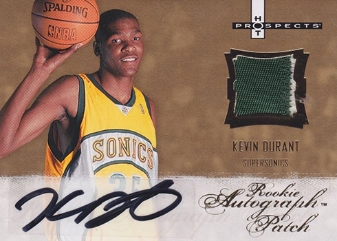 2007-08 Fleer Hot Prospects Kevin Durant RC