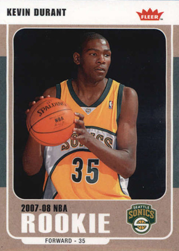 2007-08 Fleer Kevin Durant RC