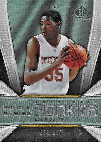 2007-08 SP Game Used Kevin Durant RC