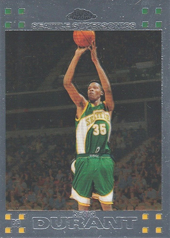 2007-08 Topps Chrome Kevin Durant RC