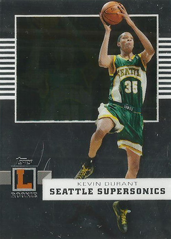 2007-08 Topps Letterman Kevin Durant RC
