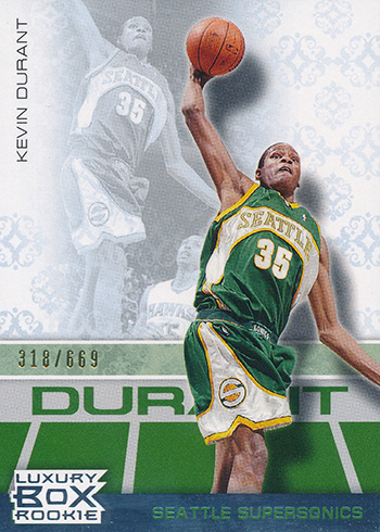 2007-08 Topps Luxury Box Kevin Durant RC