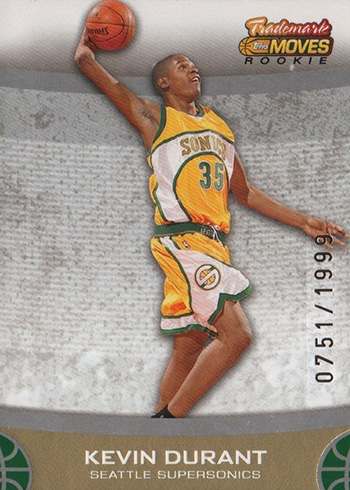 2007-08 Topps Trademark Moves Kevin Durant