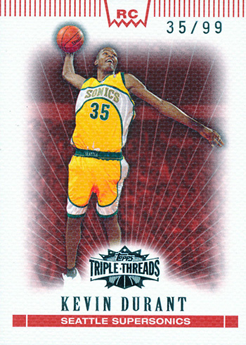 2007-08 Triple Threads Kevin Durant RC