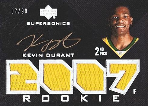2007-08 UD Black Kevin Durant RC