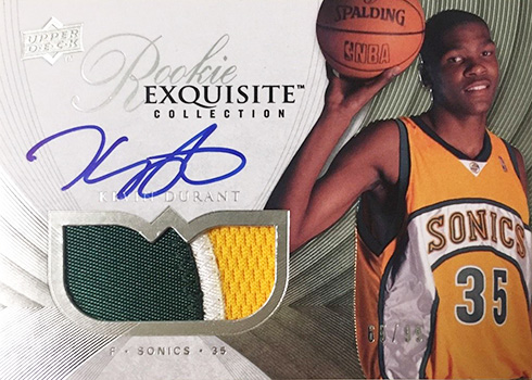 2007-08 Upper Deck Exquisite Kevin Durant RC